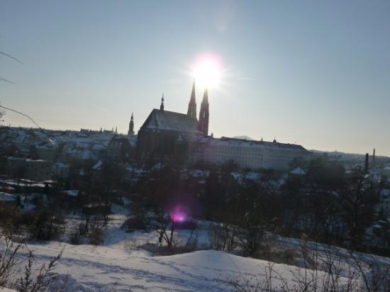View from my town to German - St Peter and Paul Church in Gorlitz