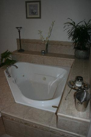 The Garden House Bed & Breakfast: Orchid Room jacuzzi