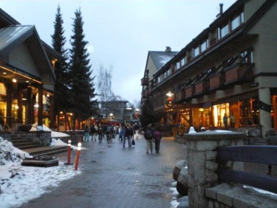 Whistler, Canada: The Village at dusk