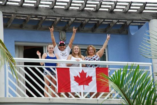 Beaches Turks & Caicos Resort Villages & Spa: Cheering (from Turks) for Canada during the Olympics