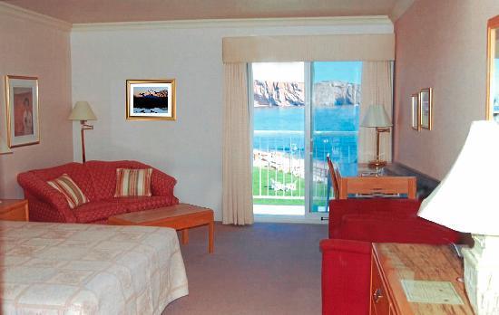 Hotel La Normandie: notre chambre avec vue sur la mer