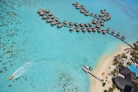 ‪منتجع Hilton Moorea Lagoon Resort & Spa: Aerial View‬