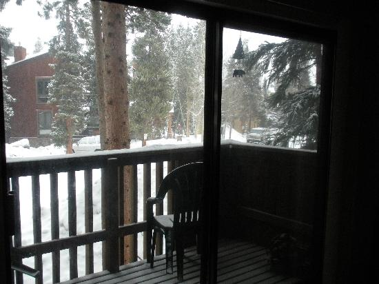 Inner Circle Condominiums: Patio View While Snowing