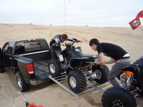 Pismo Beach, CA: Loading up for the day.