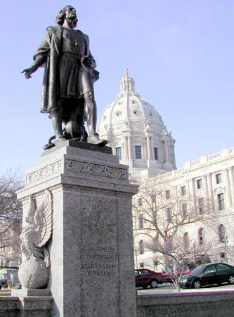 Saint Paul, MN: Christopher Columbus Memorial, MN State Capital