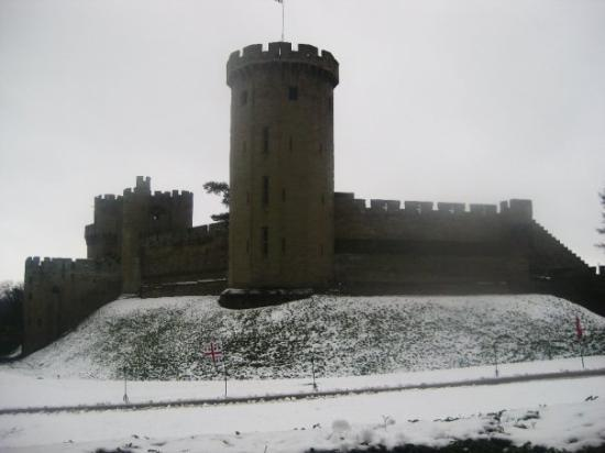 Warwick Castle.  It was first established as a motte-and-bailey castle by William the Conqueror
