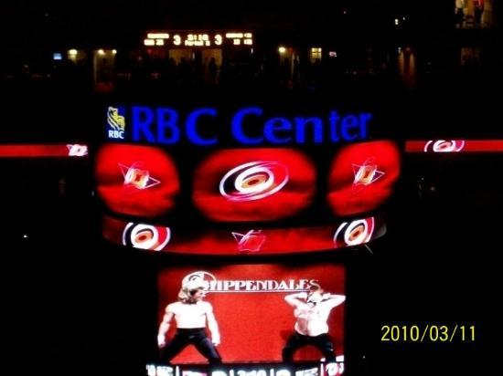 PNC Arena: March 11, 2010  Raleigh NC...hockey game..Hurricanes vs Penguins...Canes won in overtime!