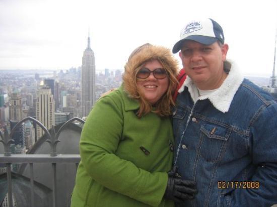 Bilde fra 'Top of the rock' utsiktspost, Rockefeller New York