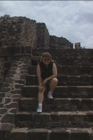 Me, climbing the pyramids of Teotihuacan north of Mexico City