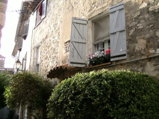 Mougins, France: Flowers in windowboxes everywhere. And all in bloom, even in December. Marvelous climate.
