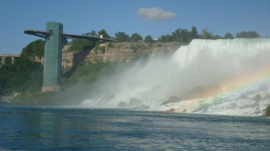 Niagara Falls, NY: rainbow coming out of the falls
