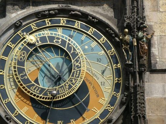 Old Town Hall and Astronomical Clock: The clock face tells the time 3 different ways. None of which can be read by the average individ