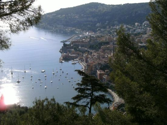 West from Eze, Villefranche-sur-Mer.