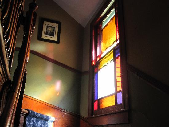 The Brunswick at Saratoga: stained glass window