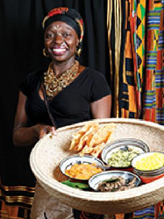 Gold Restaurant: Our African Cuisine is served by our friendly staff