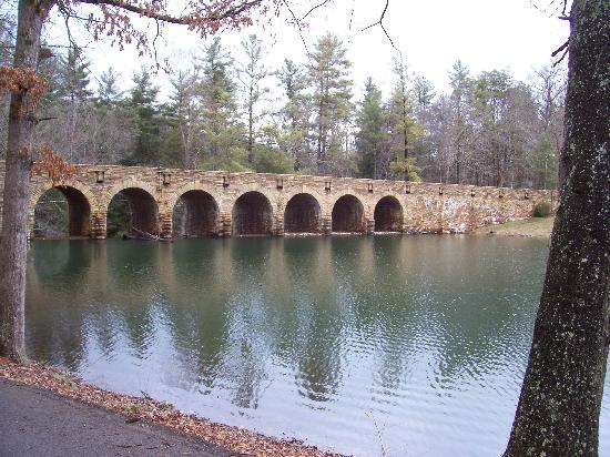 Cumberland Mountain State Park: View from the dining area.