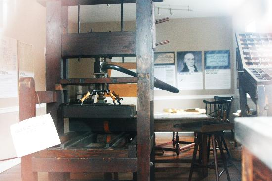 Old Salem Museums & Gardens: Print shop that was closed.