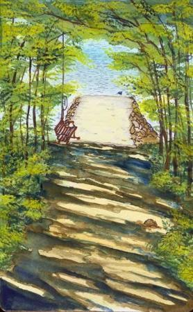 Indian Lake, Estado de Nueva York: Path from the cabin to the lake.