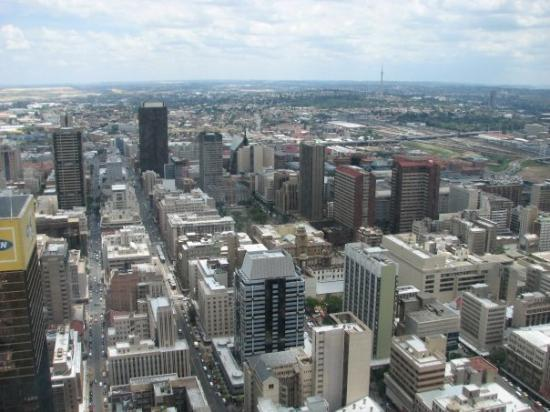Johannesburg from a tower above