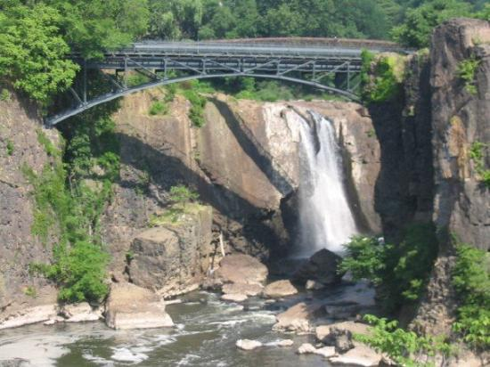 Paterson, NJ: The Great Falls is the second tallest falls on the east coast @ 77 feet high.  Niagra Falls is