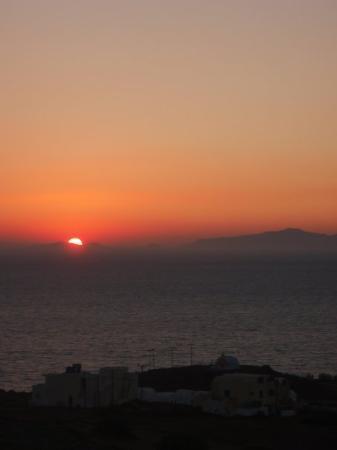 Sunset at Oia, Santorini, Greece