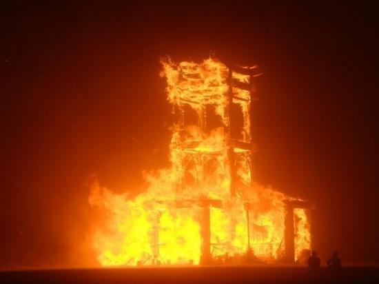 Black Rock City, NV: the temple Burning in 07.