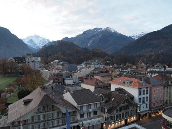 A shot from the tallest hotel in Interlaken.