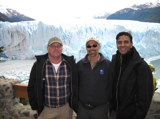 El Calafate, Argentina: Mike, Joe, and Jay at the Perito Moreno glacier.