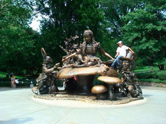 Alice in Wonderland statue...