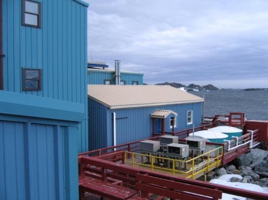 Paradise Harbour: Palmer Station is one of three U.S. research stations in Antarctica.  They do research on animal