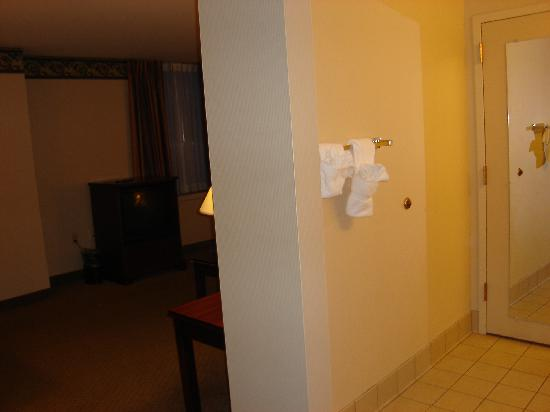 Abraham Lincoln Hotel: Living room/bathroom entrance