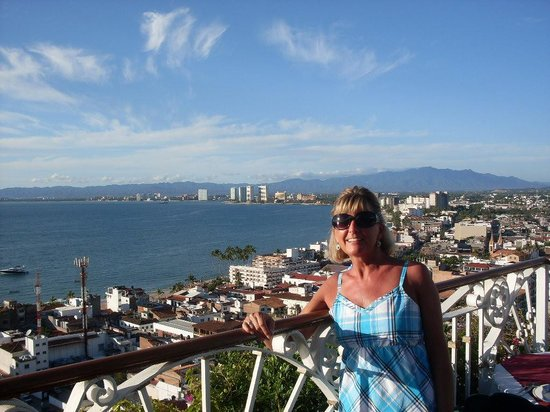 Hotel Riu Jalisco: View of Banderas Bay from El Panorama