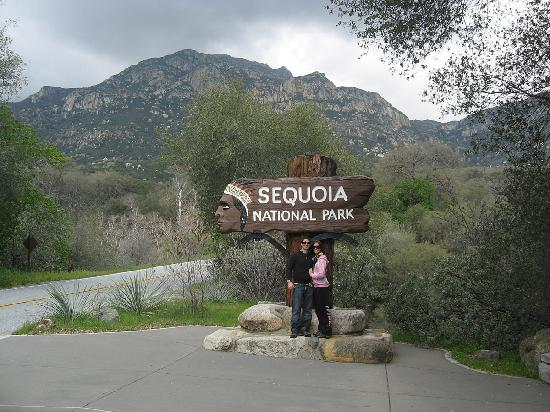 Sequoia Village Inn: Park Entrance 1/4 mile from the lodge