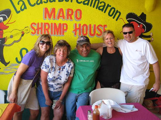 Maro's Shrimp House: Maro himself with us and two other diners
