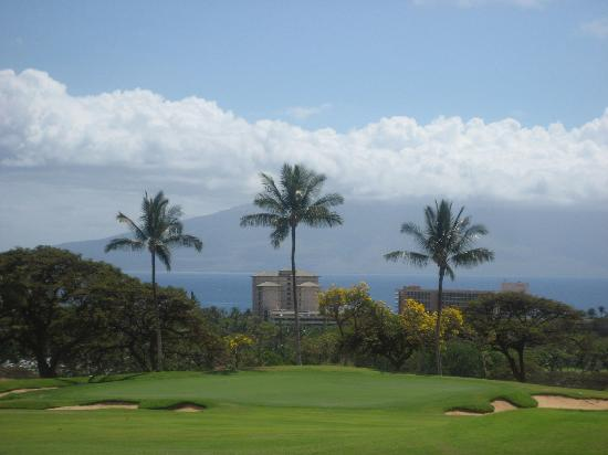 Hyatt Regency Maui Resort and Spa: View of resort from golf course