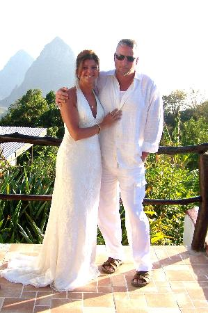 Crystals St Lucia: Bride & Groom (view from Sugar Cane)