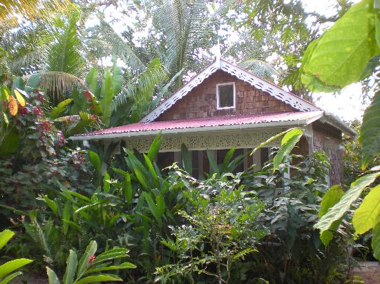 Fond Doux Plantation & Resort: Bamboo Cottage hiding in the foliage