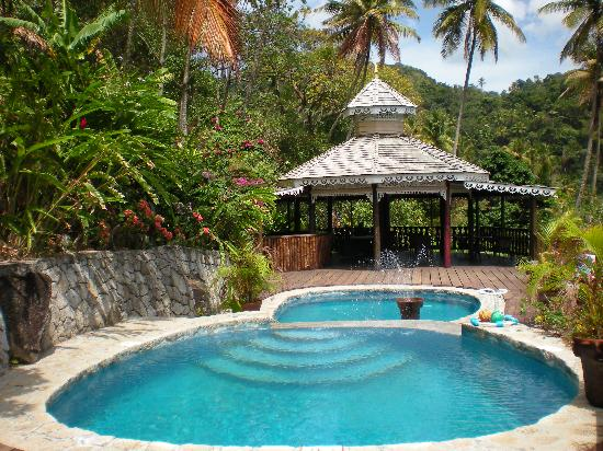Fond Doux Plantation & Resort: upper pools