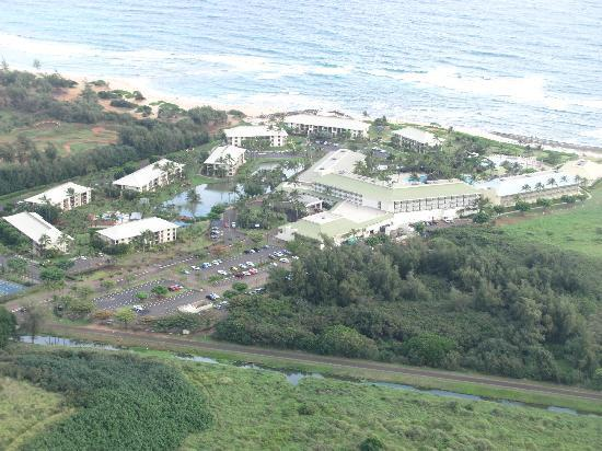 Kauai Beach Resort as seen from our helicopter tour
