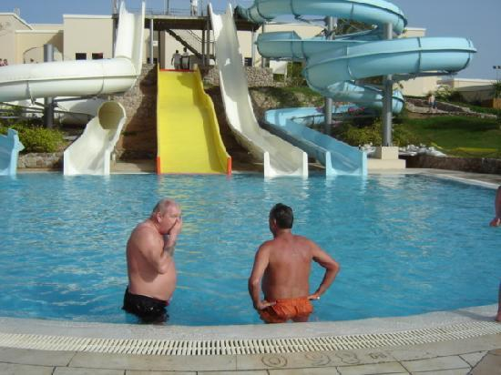 Jaz Mirabel Park: water slides at the hotel