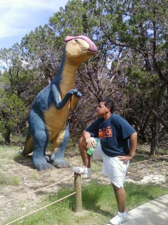 Glen Rose, TX: We were at DinoWorld for his bday!
