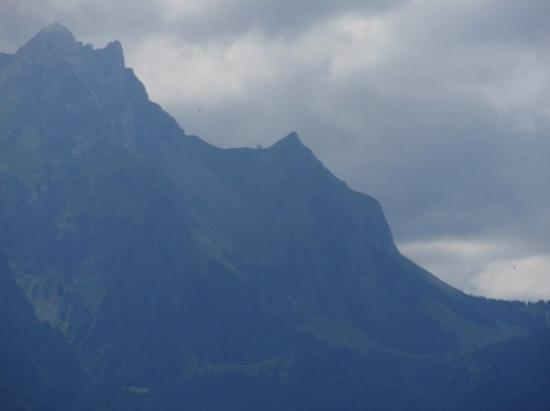 Mount Pilatus: look close enough and you'll see the cable cars that we went on