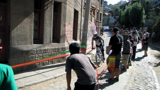 Valparaiso, Chile: Downhill bike race