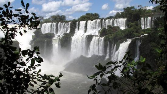 Puerto Iguazu, Argentina: A small portion of Iguazu Falls