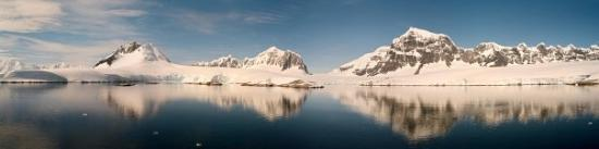 Port Lockroy panorama - stiched from film scans, 3 pics, 2 different films!