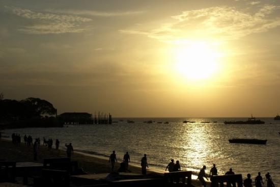 Steinbyen på Zanzibar, Tanzania: Sunset