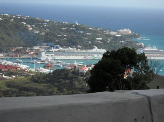 View of Charlotte Amalie harbor from route 35