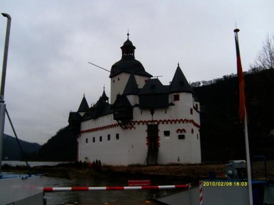 Kaub, Tyskland: Burg Pfalzgrafenstein, Falkenau Rhine Island, Palatinate.