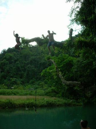 Vang Vieng, Laos: I look funny here.