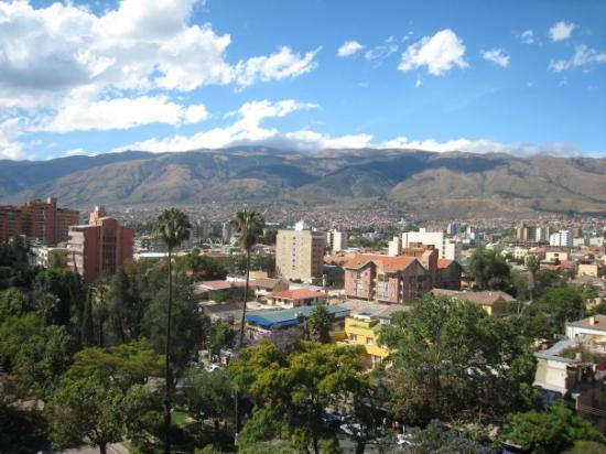CITY VIEW OF COCHABAMBA- ONE OF THE MOST BEAUTIFUL CITIES IN THE WORLD THAT I HAVE VISITED.  Buz
